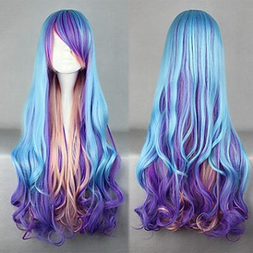 Blue and Purple and Pink Mixed Color Punk Lolita Wig