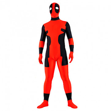 Extraterrestrial Pattern Red and Black Lycra Zentai