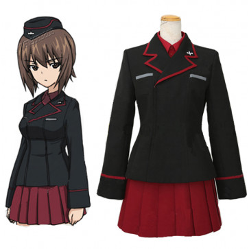 GIRLS und PANZER Cosplay Costume にしすみ まほ Nishisumi Maho Costume School Uniforms