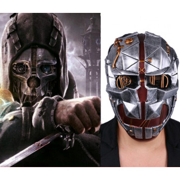 GRP Mask Game Dishonored 2 Cosplay Mask Corvo Attano Horror Mask Glass Fiber Reinforced Plastics Mask