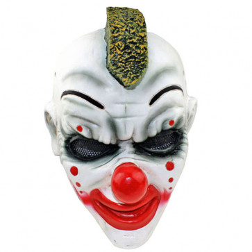 GRP Mask Heavy Metal Band Slipknot Clown Mask Percussion Shawn Crahan Cosplay Mask Glass Fiber Reinforced Plastics Mask
