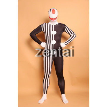 Halloween Clown Full Body Spandex Lycra Zentai Suit