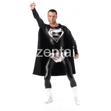 Superman Black Zentai Suit