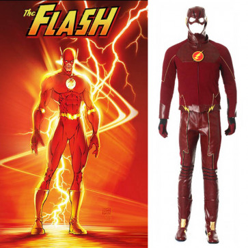 The Flash Cosplay Costume Flashman Outfit