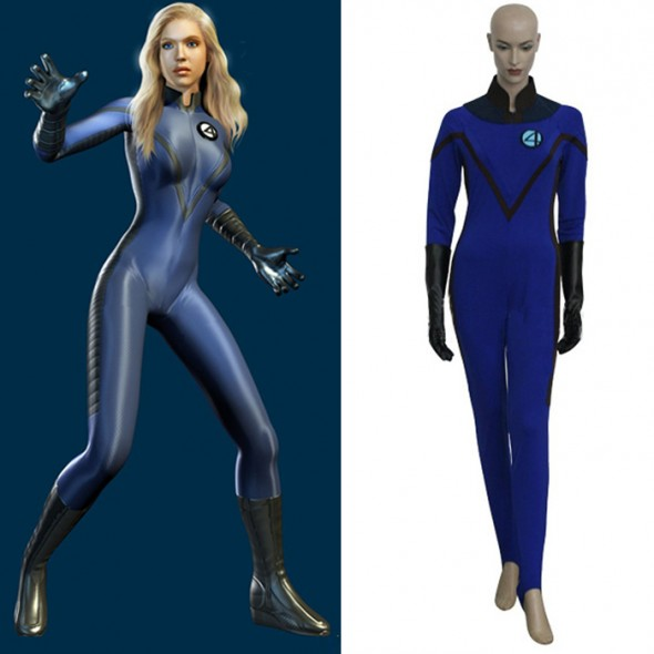 Fantastic Four Invisible Woman Cosplay Costume Tights