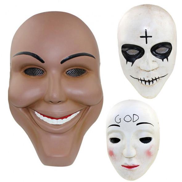 GRP Mask Movie The Purge Anarchy Mask God Mask Cross Mask Smile Mask Glass Fiber Reinforced Plastics Mask