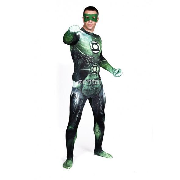 Halloween Green Lantern Full Body Spandex Lycra Zentai Suit