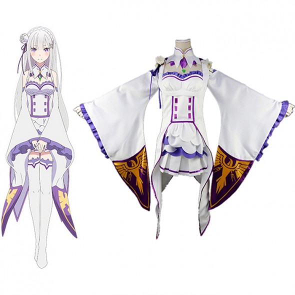Re:Life in a different world from zero Cosplay Costume エミリア Emilia Costume