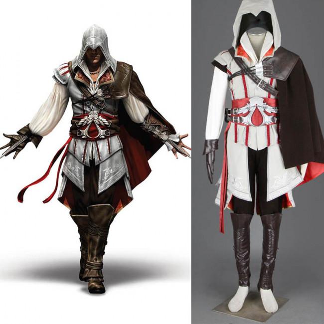 Assassin S Creed Ii 2 Ezio Auditore Da Firenze Cosplay Costume Outfit