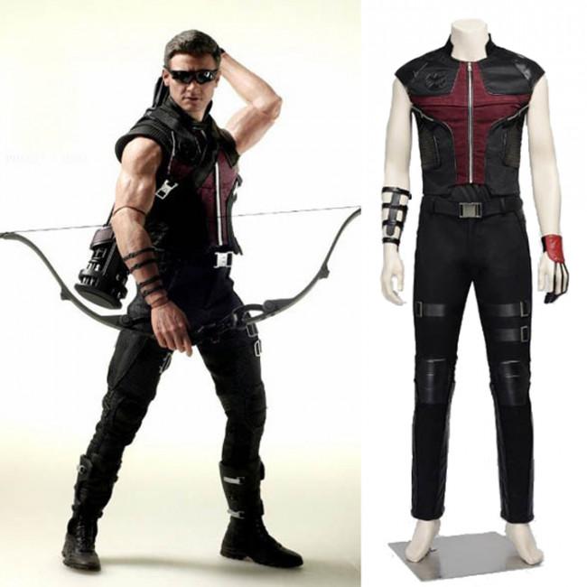 Avengers Age of Ultron Hawkeye Cosplay Costume & Avengers Age of Ultron Eagle Eye Hawkeye Cosplay Costume