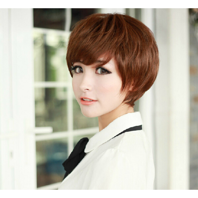 Lolita Cosplay Wig|Bob Lovely Short Hair Wig |Brown Light ...