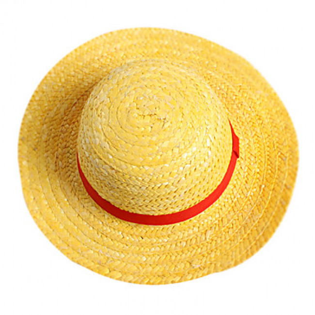 4f5c1cd3356 Japanese Anime One Piece Pirate Boy Monkey D. Luffy Anime Cosplay Straw  Boater Beach Hat