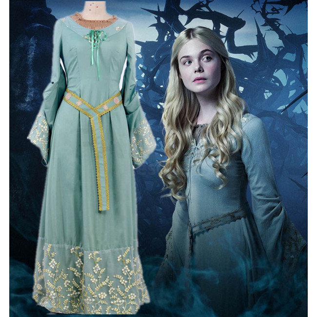 2014 Movie Maleficent Cosplay Princess Aurora Cosplay Costume Skirt