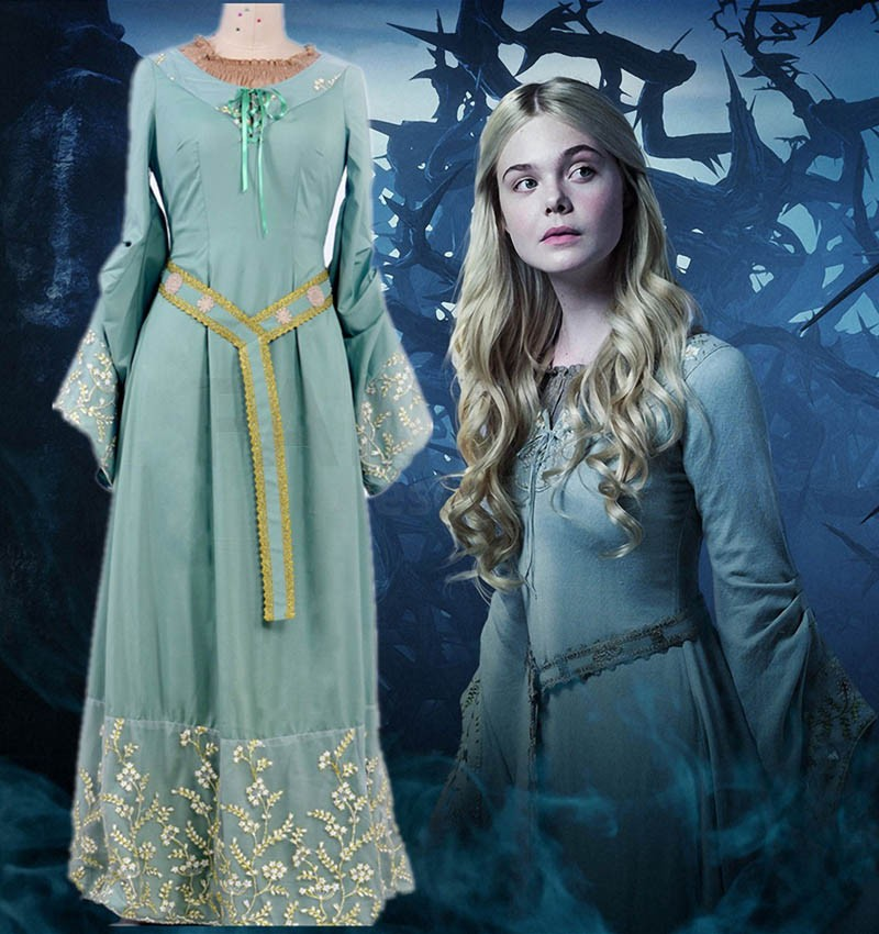 Elle Fanning Aurora Costume 2014 Movie Maleficent ...