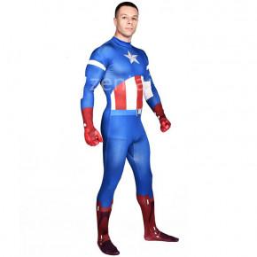 Halloween The Avengers Captain America Full Body Zentai Suit