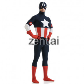 Marvel's The Avengers Captain America Full Body Spandex Lycra Zentai Suit