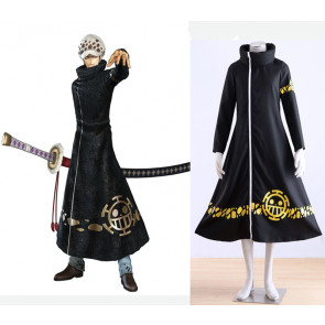 Anime One Piece Surgeon of Death Trafalgar Law Cloak Cosplay Costume