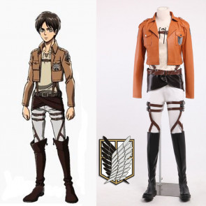 Attack on Titan Recon Corps Eren Jaeger Cosplay Costume