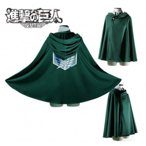 Attack on Titan Cape Shingeki No Kyojin Levi/Eren Scout Legion Cosplay Cloak