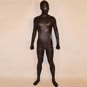 Black Shiny Metalic Unisex Zentai Suit