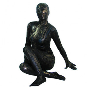 Black Shiny Metallic Full body Zentai