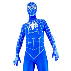 Blue and White Full Body Spiderman Zentai