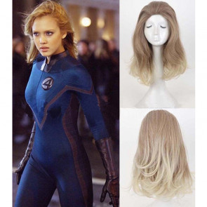 Fantastic Four Invisible Woman Sue Storm Medium Long Hair Wig