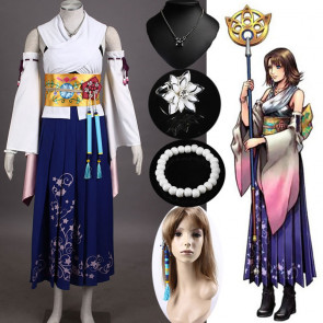 Final Fantasy Ten Yuna Cosplay Costume Outfit