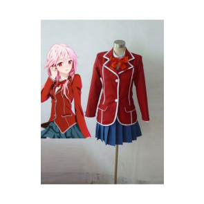 Guilty Crown Girls' School Uniform Cosplay Costume Inori Yuzuriha Cosplay costume red Jacket hooded coat