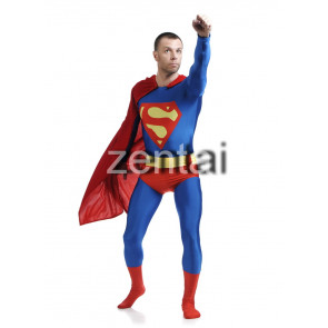 Blue Superman Full Body Spandex Lycra Zentai Suit