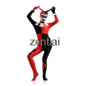 Halloween Clown Full Body Spandex Lycra Cosplay Zentai Suit