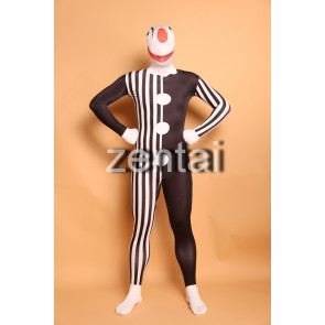 Halloween Clown Full Body Spandex Lycra Zentai Suit