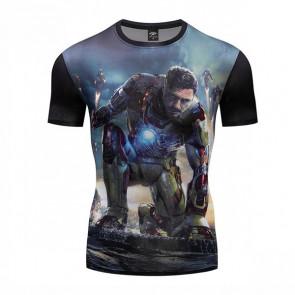 Iron Man 3 Short Sleeve Round Collar T-shirt