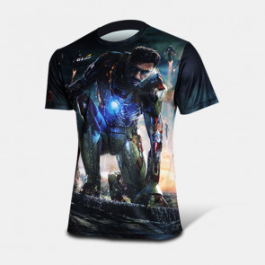 Iron Man 3 Short Sleeve Round Collar T-shirt
