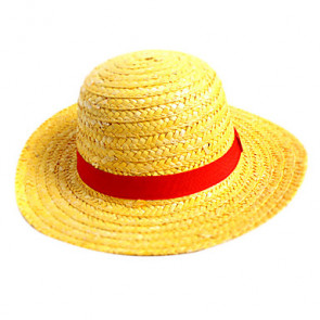 Japanese Anime One Piece Pirate Boy Monkey D. Luffy Anime Cosplay Straw Boater Beach Hat Cap Halloween Gift