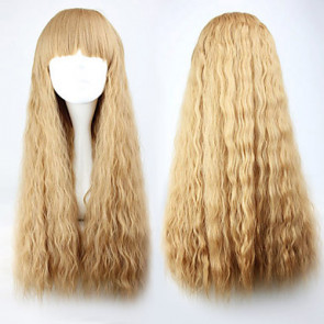 Light Brown Blunt-cut 70cm Princess Lolita Curly Wig