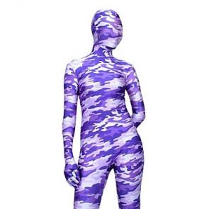 Light Purple Camouflage Full Body Zentai