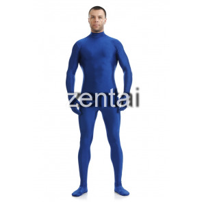 Man's Full Body Blue Color Spandex Lycra Zentai