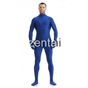 Man's Full Body Blue Color Spandex Lycra Zentai