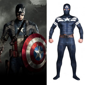 Marvel's The Avengers Captain America Full Body Zentai Suit