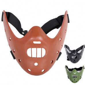 Movie The Silence of the Lambs Mask Steel Teeth Hannibal Lecter Mask