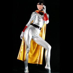 Silver Shiny Metallic Women's Costume