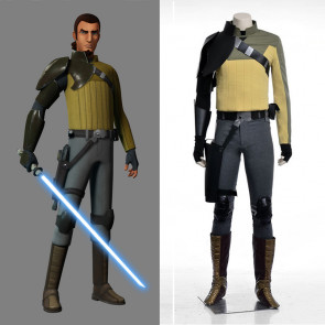 Disney Anime Star Wars Rebels Kanan Jarrus Cosplay Costume
