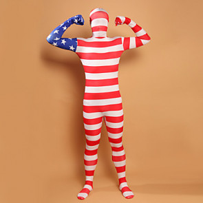 Stars and Stripes USA Flag Lycra Full Body Zentai