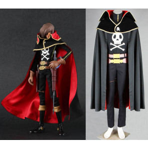 Space Pirate Captain Harlock Cosplay Costume