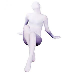 White Spandex Lycra Unisex Zentai Suit