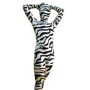 Zebra Pattern Unisex Spandex Lycra Zentai Suit
