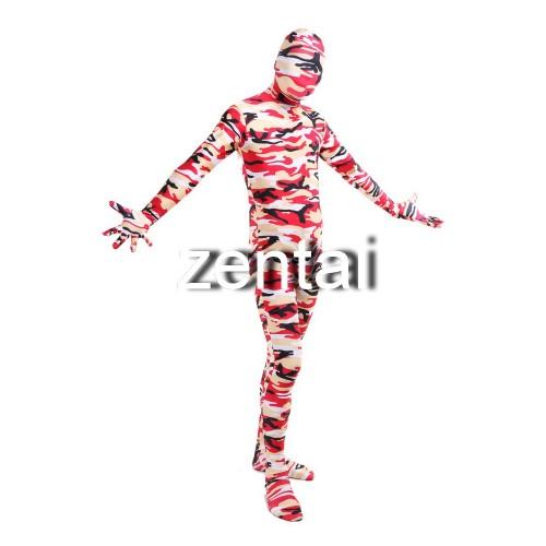 Full Body Camouflage Spandex Lycra Zentai