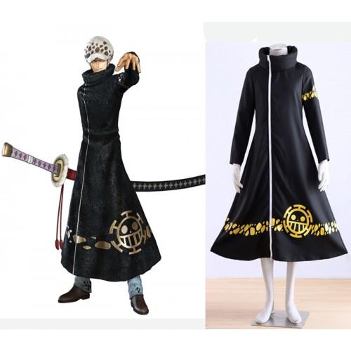 Anime One Piece Surgeon of Death Trafalgar Law Cloak Cosplay Costume