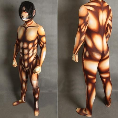 Attack on Titan Colossal Titan Eren Jaeger Titan Cosplay Zentai